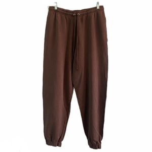 ASOS Oversized Joggers Washed Brown Finish L